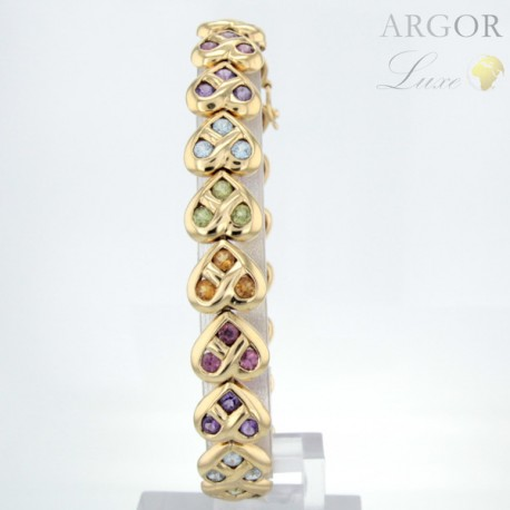 Bracelet Or pierres fines