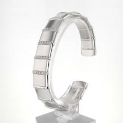 Bracelet Jonc occasion Or blanc Diamants