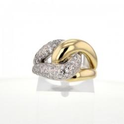 Bague 2 Ors Diamants occasion