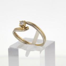 Bague  solitaire 2 Ors 18 ct diamant 0.1 carat