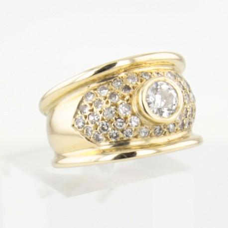 Bague Or Jaune 18k Diamant