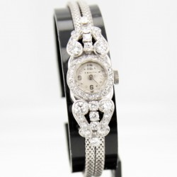 Montre Zenith Or blanc Platine Diamants