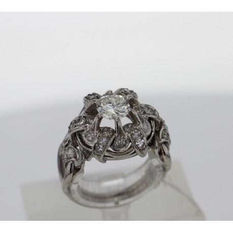 Bague ancienne Platine Diamants