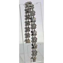 Bracelet Or blanc pavage diamants