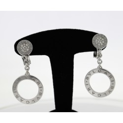 Boucles d'oreilles Bulgari Or blanc et diamants