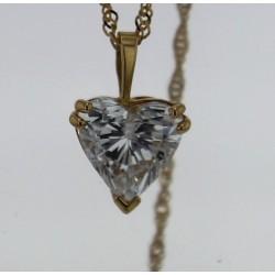 Pendentif Or jaune Diamant Cœur