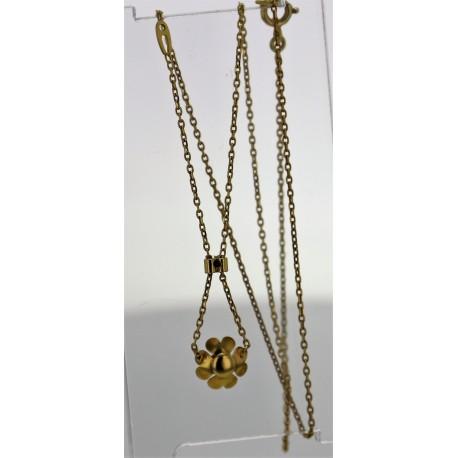 Collier pendentif Or jaune diamants