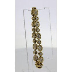 Bracelet Or jaune 18k pavages diamants