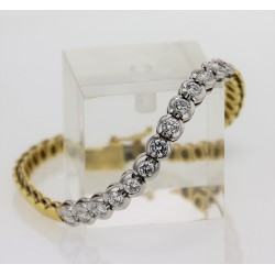 Bracelet 2 Ors diamants