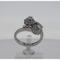 Bague Or blanc 18K Toi et Moi diamants