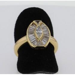 Bague Or Jaune 18K Diamants