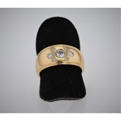 Bague Jonc Or jaune 18K diamants