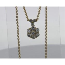 Pendentif Or jaune 18K diamants