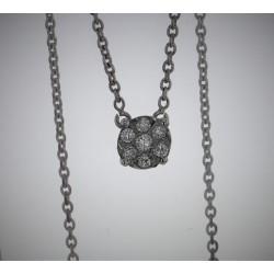 Pendentif Or blanc 18K diamants