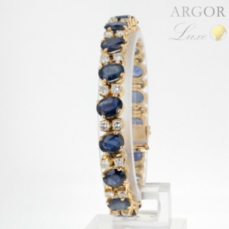 Bracelet Or Saphirs Diamants